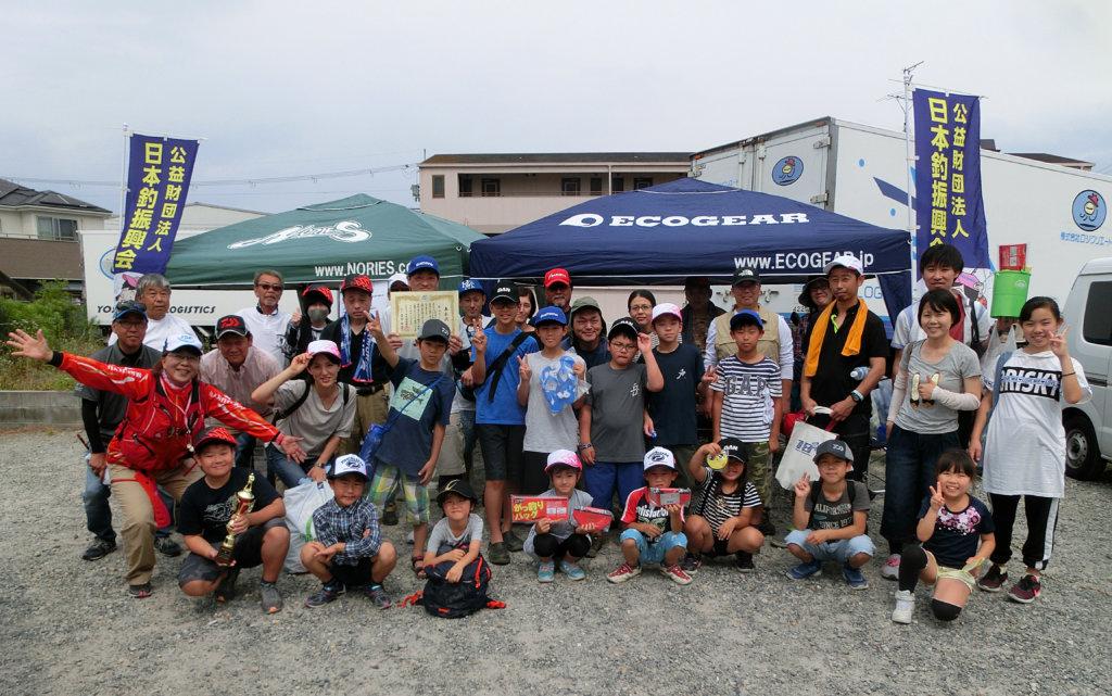初心者のためのヘラブナ釣り教室の集合写真