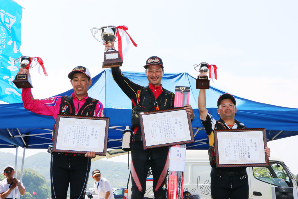 GFG杯争奪全日本地区対抗アユ釣り選手権の上位選手