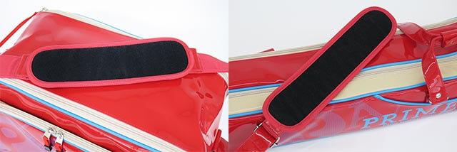 「ライトへらバッグPA-05セット」のバッグとロッドケースの改良されたショルダーパッド