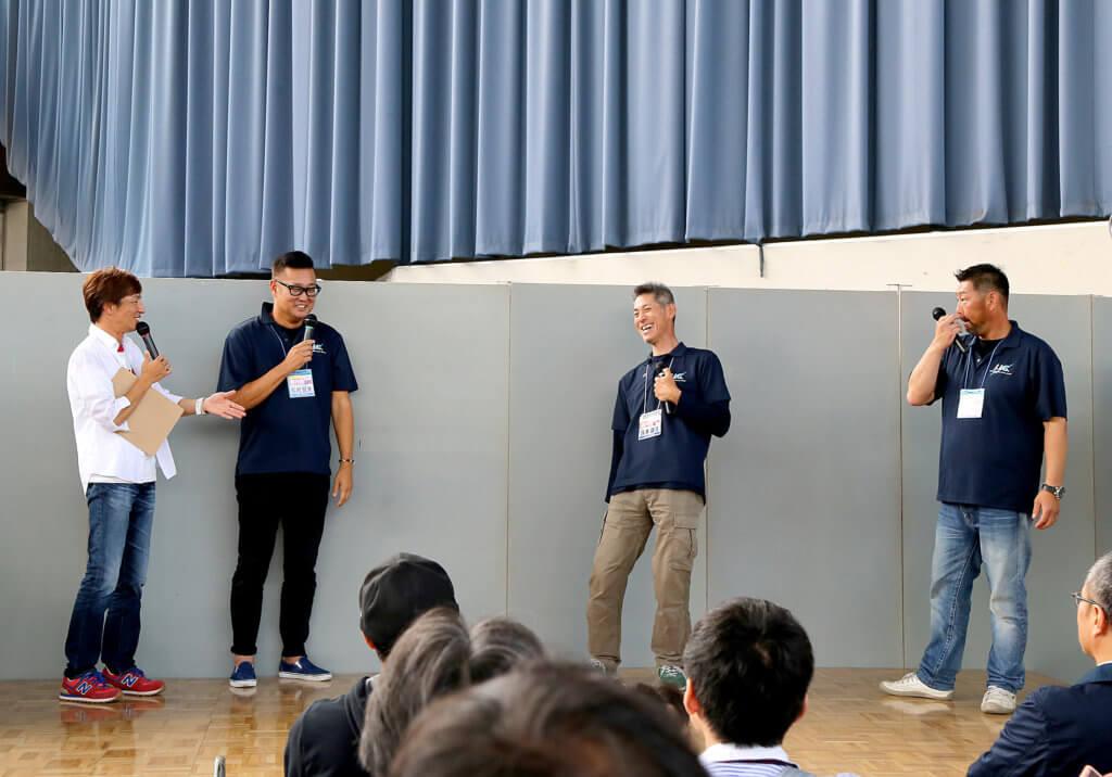 ジギングフェスティバルin大阪で行われたトークショーの様子