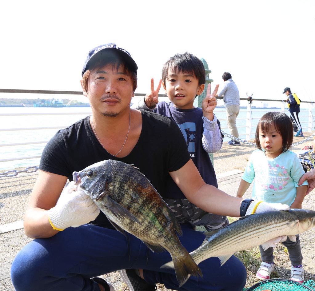 ファミリー海釣り大会の参加者