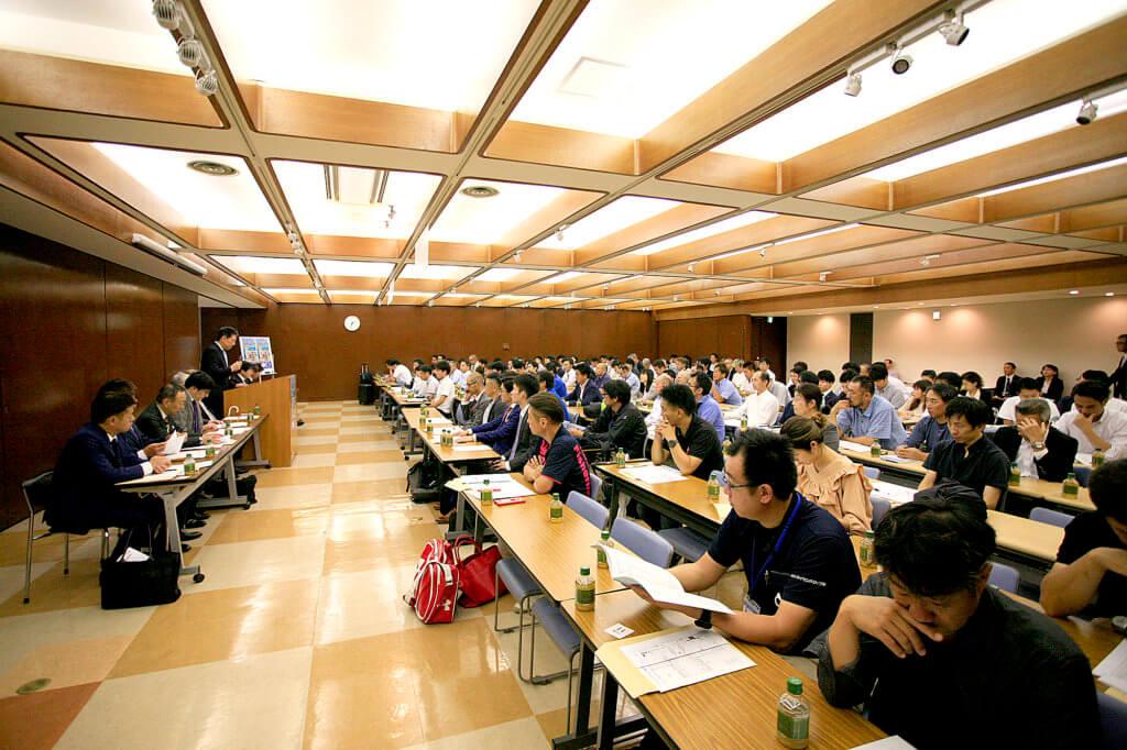 フィッシングショーOSAKA2020の出展要項説明会の様子