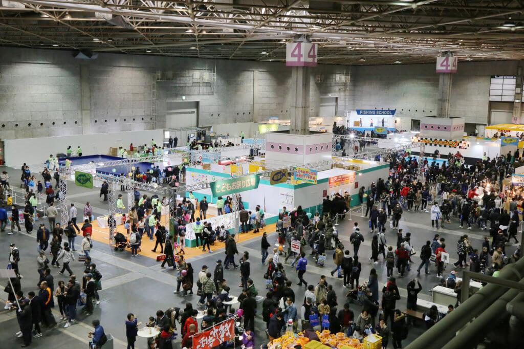 「フィッシングショーOSAKA2019」の4号館イベントホールの風景