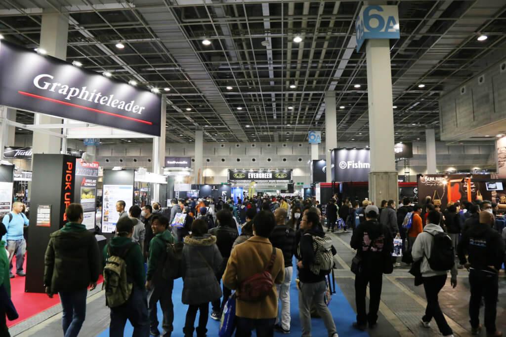 2019年2月に開催された「フィッシングショーOSAKA2019」の会場の様子