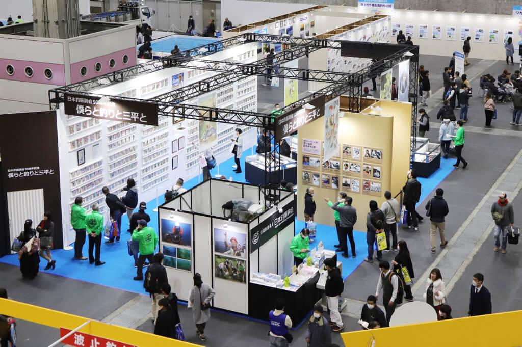 2月8日(土)と9日(日)に大阪南港のインテックス大阪で開催された「フィッシングショーOSAKA2020」での日本釣振興会「釣りキチ三平コレクション展」の様子