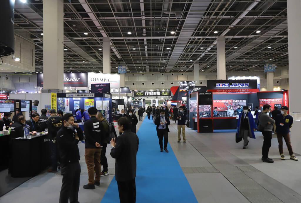 フィッシングショーOSAKA2020の会場内の様子