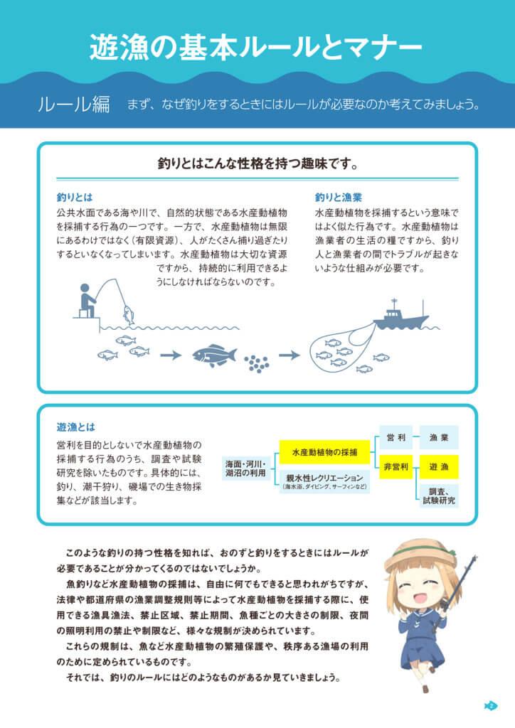 「遊漁のルールとマナー」に関するパンフレット1