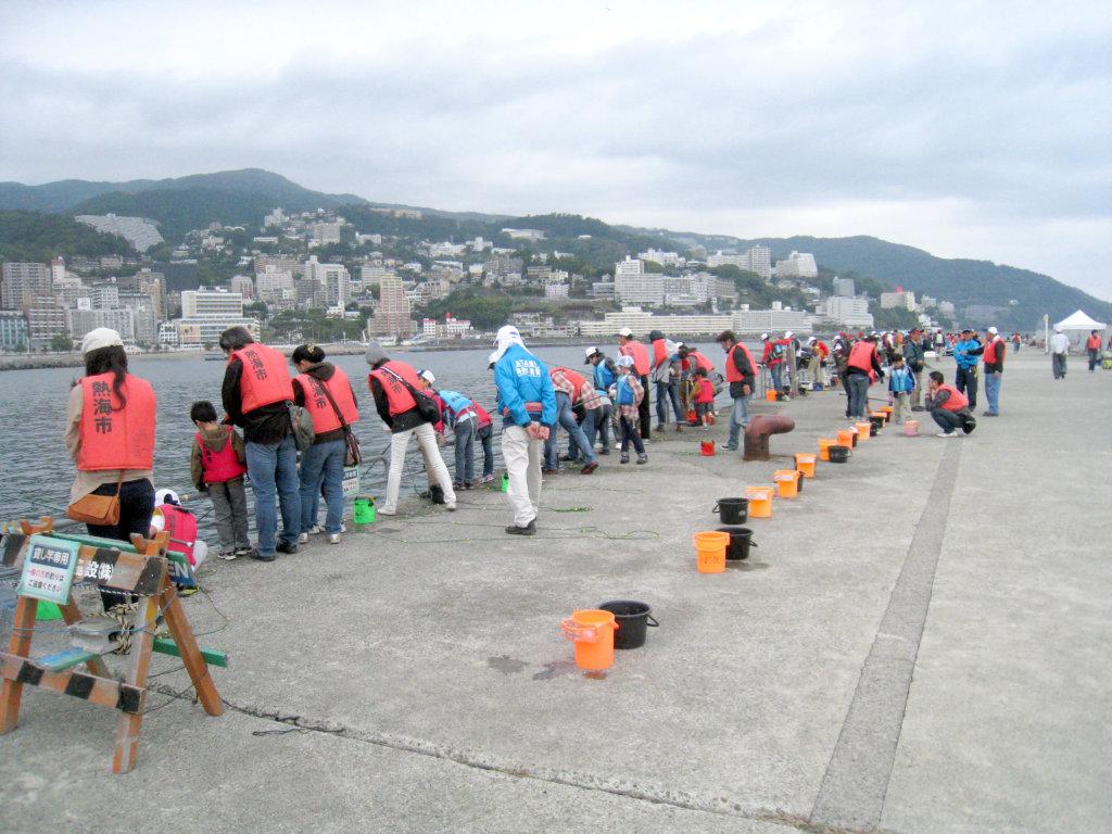 熱海港。釣り文化振興モデル港に指定されている