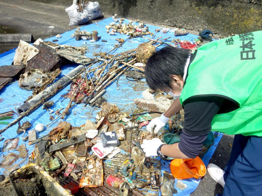 ゴミの回収総重量は850㎏