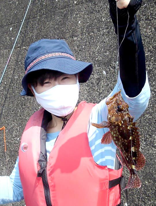 午後からは釣り体験が行われた