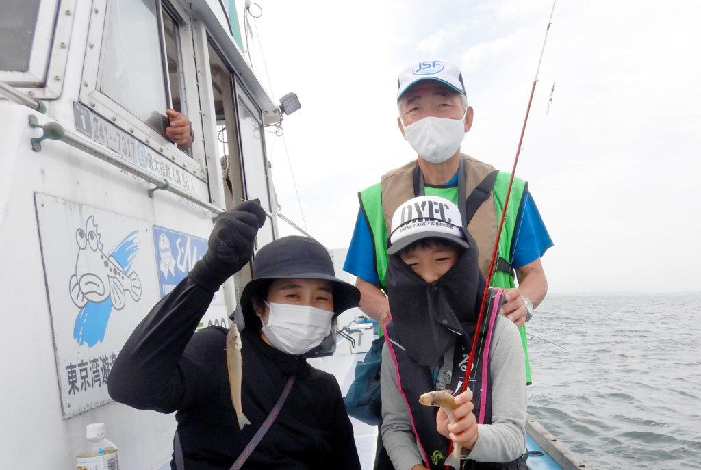 釣り教室では平均7-8尾のシロギスが釣れた