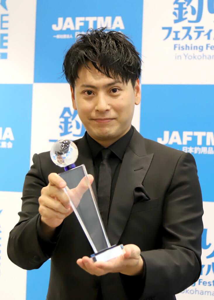 3年連続で「クールアングラーズアワード」を受賞した山下健二郎さん