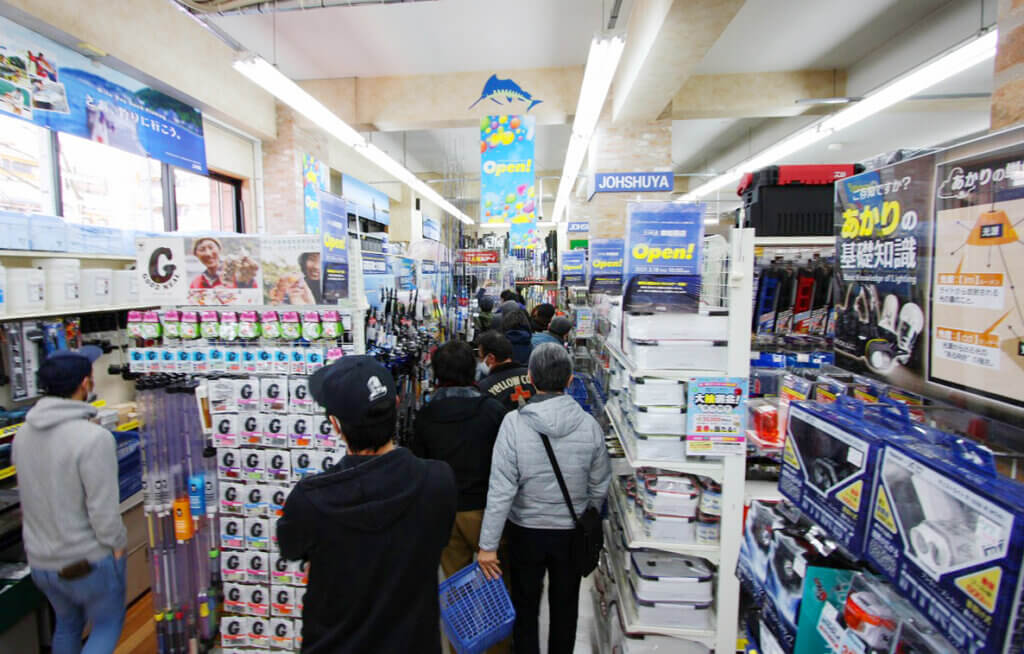 上州屋東船橋店の売り場
