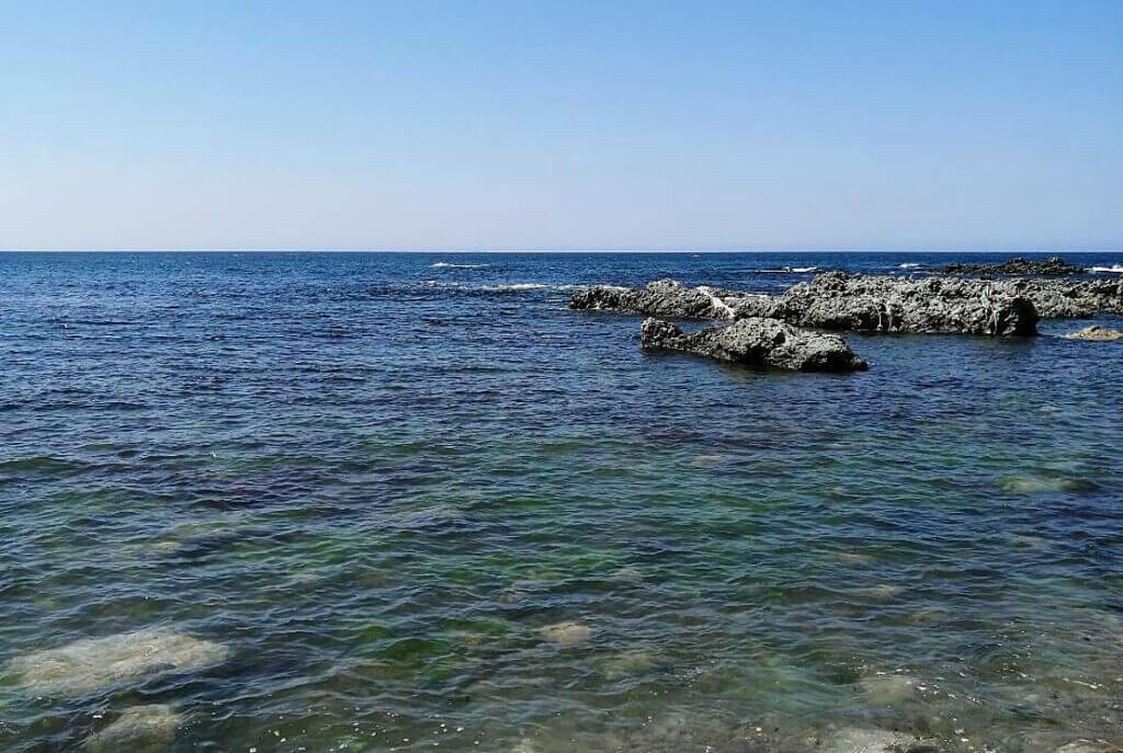 自然の海の風景