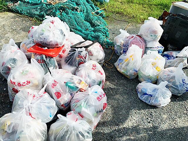 キャステング福岡店清掃活動回収したゴミ