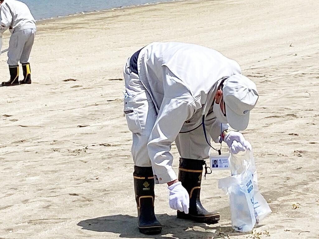 日釣振広島マコガレイ放流清掃