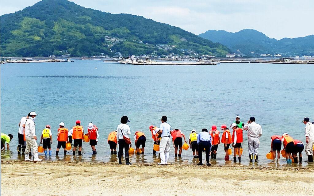 日釣振広島マコガレイ放流