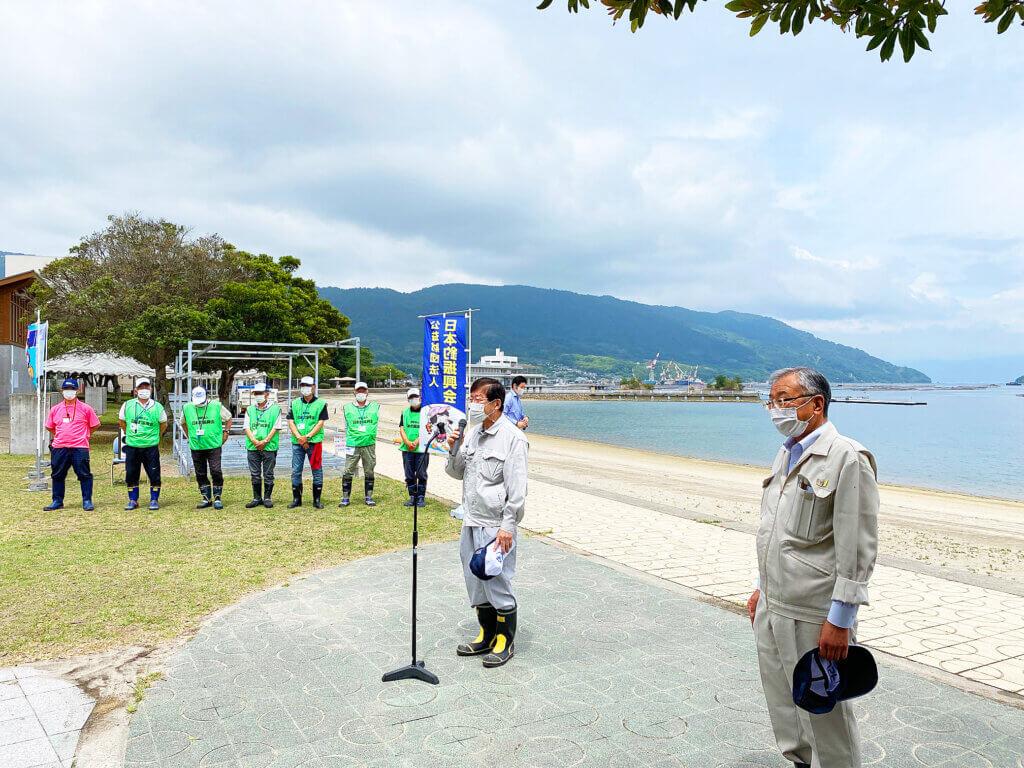 日釣振広島マコガレイ放流開会式